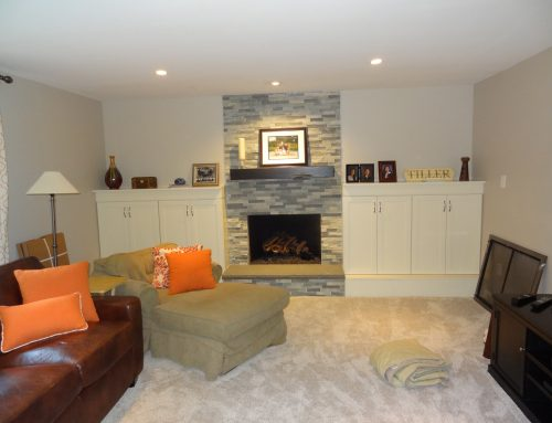 OHI Design Cabinets and Fireplace Remodel