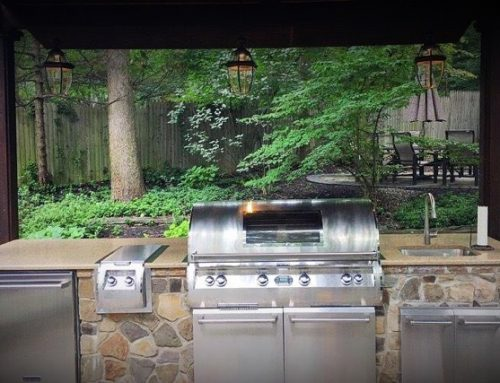 Custom Design Outdoor Grill Feature
